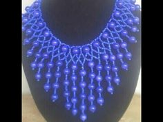 the tutorial on how to make this water fall necklace. - YouTube