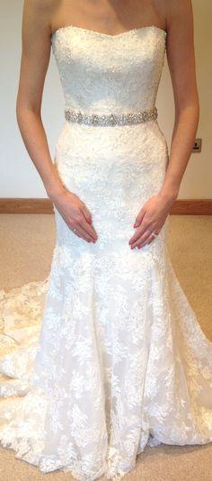Vintage style bridal sash/wedding dress belt by FlorenceandRose, $115.00