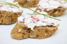 Ředkvičková pomazánka s pažitkou Ricotta, Baked Potato, Mashed Potatoes, Salsa, Dips, Cereal, Muffin, Low Carb, Baking