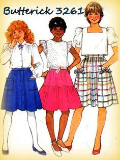 Sewing Pattern Vintage 1980s Girls' Full by mmmsvintagepatterns