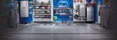 Need more garage storage space? Call Chicago's own Garage Store Today for professional garage flooring, overhead storage, garage cabinets and organization. Garage Entry, Garage Gym, Diy Garage, Garage Ideas, Dream Garage, Gladiator Garage Storage, Gladiator Garageworks, Garage Organization, Organizing