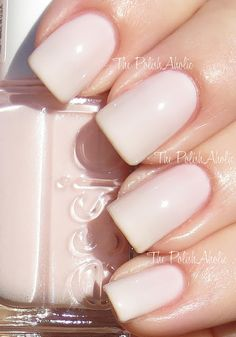 """The lightest of all Pinks. Such a simple yet delicate color by Essie in the shade """"Ballet Slippers."""""""