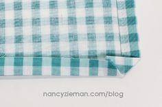 How-To Sew Simple Mitered Corner Napkins with Nancy Zieman | Nancy Zieman Blog