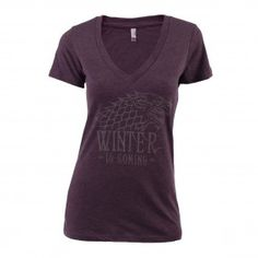 Game of Thrones Stark Metallic Ink Women's V-Neck T-Shirt