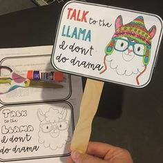 Students will work on their friendship skills by learning how to avoid rumors and set boundaries. This lesson includes a presentation about rumors and a craft. Students choose a drama llama design template to make a fan. They can use the fan to remind them of their