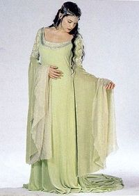 medieval wedding dress - maybe the yellow stretch velour