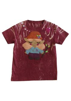 #belleandbear #mushpamensa #universeseries #ecofi #organic #druid #kidsfashion Girls Hand, Felt Applique, Custom Tees, Recycle Plastic Bottles, Hand Stitching, Organic Cotton, Kids Fashion, Pattern, Mens Tops