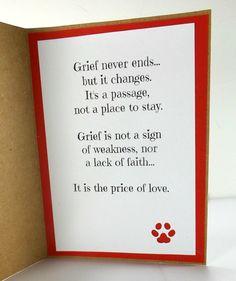 Sympathy card for the loss of dog - Dog Condolences Sympathy Notes, Pet Sympathy Cards, Handmade Sympathy Cards, Dog Cards Handmade, Sympathy Verses, Sympathy Messages, Loss Of Dog, Pet Loss, Birthday Captions