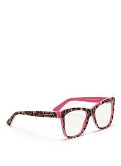 Dolce & Gabbana Leopard Print Optical Glasses