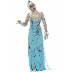 Zombie Froze to Death kostuum voor dames en vele feestartikelen.