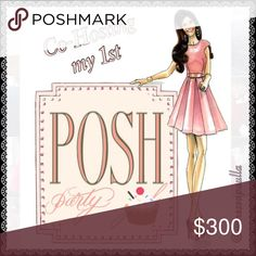 🎉Co-Hosting My First Posh Party - 12/13 12PM PST I'm very excited to announce that I will be co-hosting my first Poshmark party on 12/13 at 12pm PST. 😁 Please like & share this post, and I'll gladly be checking your closet for potential Host Picks. Also looking for first timers. So please tag a friend that never had a HP, and I'll be happy to check they're closets as well. Happy Poshing 😘💕💕 Zara Other