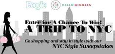 Enter People Magazine's sweepstakes for a chance to win a vacation to NYC and gift cards and gift codes to Veronica Beard, People shop & more just for fashion! (- see the official rules f… Win A Vacation, Win A Trip, People Shopping, Go Shopping, Hello Giggles, People Magazine, Nyc Fashion, Official Rules, Veronica Beard
