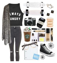 """""""Untitled #6"""" by oliviajob ❤ liked on Polyvore featuring Topshop, Holga, Cassia, Lauren Conrad, Kate Spade, Mikimoto and Converse"""