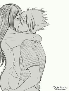 anime kiss Boruto Sarada borusar to Couple Amour Anime, Couple Anime Manga, Anime Couple Kiss, Anime Cupples, Couple Cartoon, Anime Girls, Cute Couple Drawings, Anime Couples Drawings, Cute Anime Couples