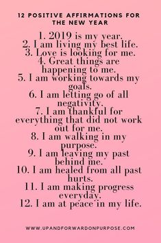 for Success Positive affirmations for the new year. New year, new me motivation.Positive affirmations for the new year. New year, new me motivation. Daily Positive Affirmations, Morning Affirmations, Positive Thoughts, Positive Quotes, Motivational Affirmations, Affirmations Success, Affirmations For Women, The Words, Motivation Quotes