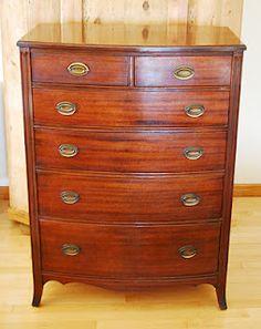 Mahogany Sheraton bow front dresser.