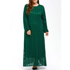 32.65$  Watch now - http://disif.justgood.pw/go.php?t=201842824 - Puff Sleeve Muslim Lace Maxi Dress 32.65$
