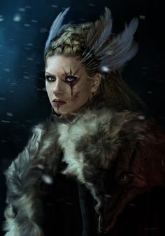 "vikinks: ""Skjaldmær by Giulia Costanzo """
