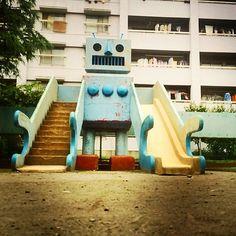 きょうの団地おじゃまします!三つ目の団地は王子住宅を守るロボットに会いにきました #放課後団地クラブ #団地 #danchi | Flickr - Photo Sharing!