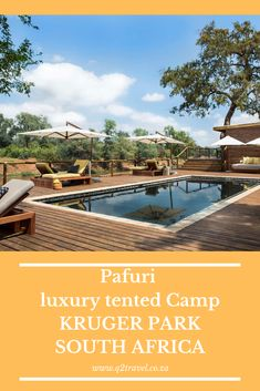 Take a peek inside this luxury tented Camp in the Kruger National Park Luxury Tents, Luxury Camping, Game Lodge, Kruger National Park, Tent Camping, Best Games, Lodges, South Africa, Outdoor Decor