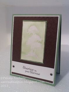 Sympathy # card I made using Stampin' Up! Serene Silhouettes stamp set.