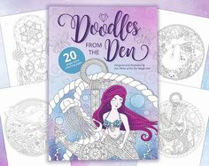 Adult coloring book Christmas gift Doodles from The Den
