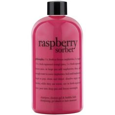 Philosophy  Raspberry Sorbet Shower Gel ($18) ❤ liked on Polyvore featuring beauty products, bath & body products, body cleansers and bubble bath