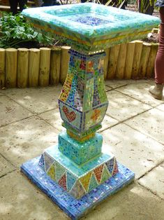 School mosaic birdbath by Emma Leith