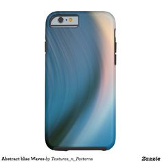Abstract blue Waves Tough iPhone 6 Case  #blue #abstract #pattern #lines #wave #movement #swing #light #rays #colorful #background #texture #mood #lights #color #motion #iphonecase #iphone