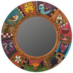 Sticks Circle Mirrors, MIR011, MIR012-S39924, Artistic Artisan Designer Mirrors – Sweetheart Gallery: Contemporary Craft Gallery, Fine American Craft, Art, Design, Handmade Home & Personal Accessories