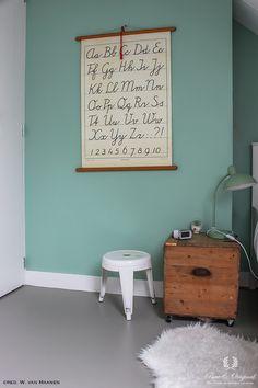 Floor Paint in de kleur Silver Like, toegepast in de kinderkamer 2