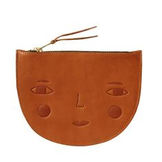 northmagneticpole:Goldie Leather Zip Pouch-Donna Wilson