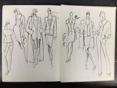 Fashion Sketchbook - fashion design sketches; creative process // Renaldo Barnette