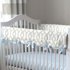 French Gray Geometric Baby Crib Bedding By Carousel Designs