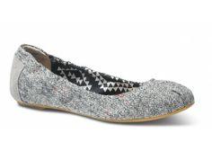 Tweed Lurex Women's Ballet Flats #toms