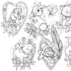 New flash available !! 🎉SOACES AVAILABLE DECEMBER/JANUARY🎉 Email or DM me to book in!! Disney Sketches, Art Sketches, Tattoo Ideas, Tattoo Designs, Tattoo Flash Sheet, Disney Scrapbook Pages, Journal Art, Disney Crafts, Disney Tattoos