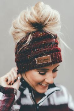 ce7d8884168 Messy bun ponytail lovers and beanie wearers UNITE. You can now wear a messy
