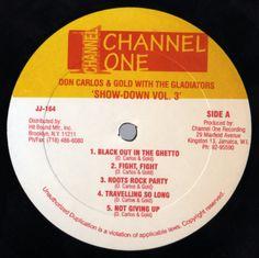 Don Carlos & Gold & The Gladiators - Show-Down Vol. 3 (Label)
