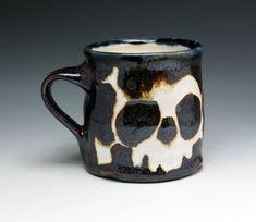 Skull & Crossbones Coffee Cup by Nicole Pangas Ceramics I Love Coffee, Coffee Shop, Coffee Cups, Art Et Design, Skull And Crossbones, Skull And Bones, Skull Art, Mug Cup, Tea Mugs