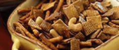 Make a crunchy snack mix that has both a bit of sweet and savory.