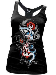 """Women's """"Eternal Love"""" Racerback Tank by Cartel Ink (Black) #InkedShop #graphictee #tanktop #womenswear"""