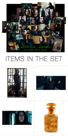"""Severus Snape"" by summersurf2014 ❤ liked on Polyvore featuring art"