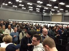 The line after the line (badge pickup SXSW)