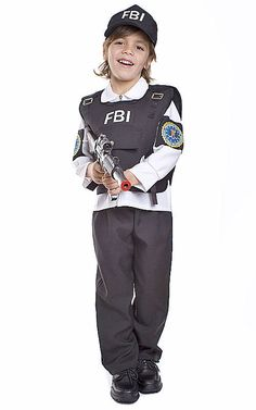 FBI Agent Boy's Costume