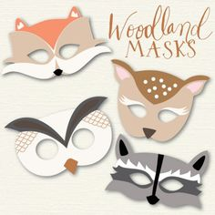 woodland animal masks