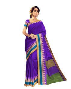 buy saree online Purple Colour Bhagalpuri Printed Casual Wear Saree Buy Saree online - Buy Sarees online