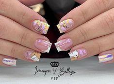Hello Nails, French Tip Acrylic Nails, Minimalist Nails, Nail Spa, Gorgeous Nails, Beauty Nails, Nail Designs, Glitter, Samara