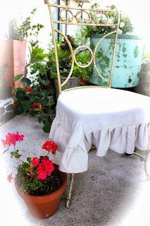 Drop Cloth Chair/Cushion Covers