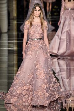 See all the Collection photos from Zuhair Murad Spring/Summer 2016 Couture now on British Vogue Couture Mode, Haute Couture Dresses, Couture Fashion, Royal Blue Prom Dresses, Prom Dresses Long With Sleeves, Formal Dresses, Zuhair Murad, Wedding Outfits For Family Members, Mermaid Dresses