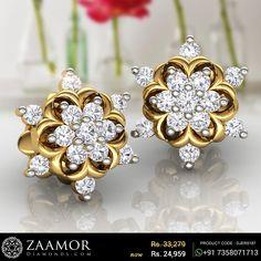 Caroline Diamond Earrings #zaamordiamonds #zaamor #diamondearrings #diamondearring #earrings #earring #earringeveryday #dailywearearrings #earringsdesign #earringoftheday #jewelleryoftheday